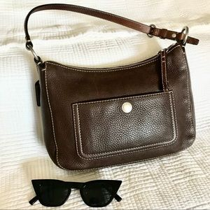 Chocolate Brown 🍫 Leather Coach Shoulder Bag